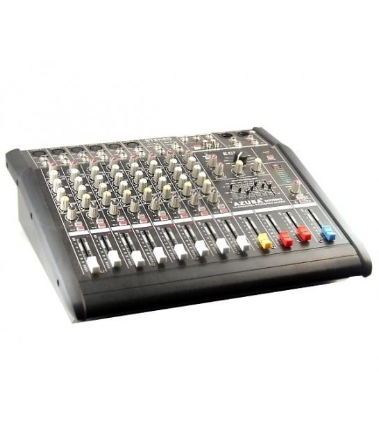 10 kanałowy powermikser PMQ-2110 z wbudowanym wzmacniaczem 2x250W