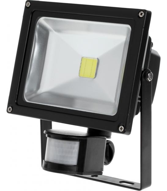 Reflektor LED 20W z sensorem ruchu i zmierzchu 6400K