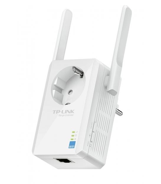 TP-LINK TL-WA860RE Wzmacniacz sygnału bezprzewodowego z gniazdkiem elektrycznym, 300Mb/s