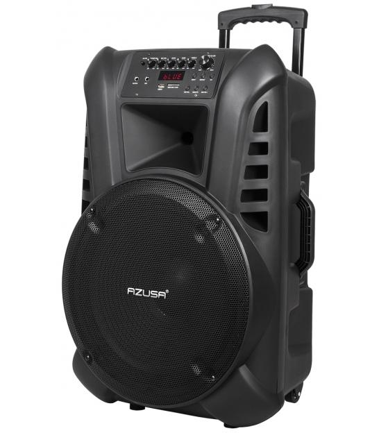 """Kolumna aktywna z 2 mikrofonami bezprzewodowymi, SD, Bluetooth, USB głośnik 15"""" 80W"""