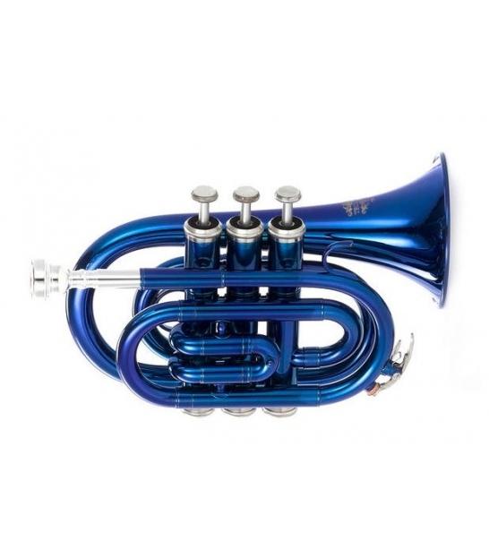 Trąbka Thomann TR 5 Bb Pocket niebieska