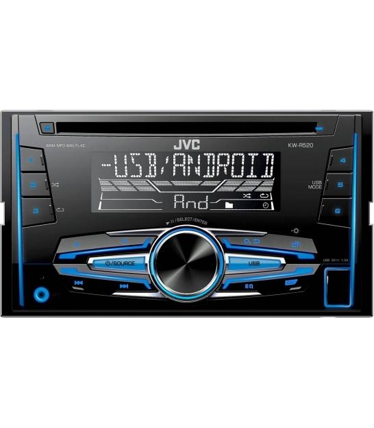 Radio samochodowe JVC KW-R520 CD USB AUX, 2 DIN