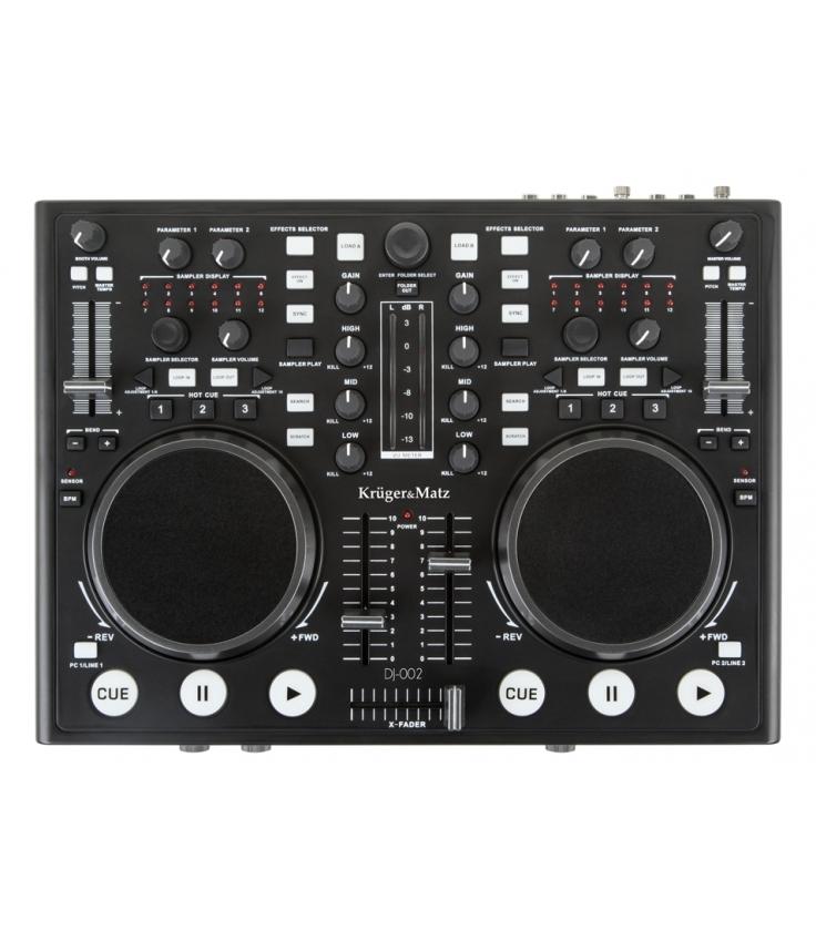 Kontroler DJ Kruger&Matz DJ-002 + oprogramowanie Virual DJ