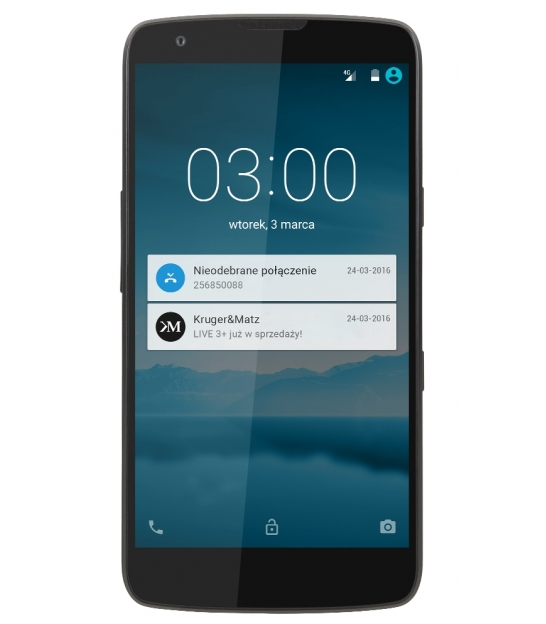 Smartfon Kruger&Matz LIVE 3+ czarny