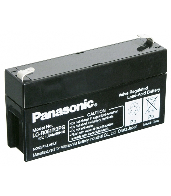 Akumulator żelowy AGM Panasonic (LC-R061R3PG) 6V 1,3Ah