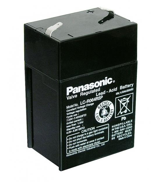 Akumulator żelowy AGM Panasonic (LC-R064R5P) 6V 4,5Ah