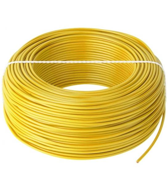Przewód LgY 1x0,75 H05V-K żółty 100m
