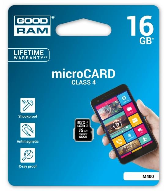 Karta pamięci microSD 16GB Class 4 Goodram bez adaptera
