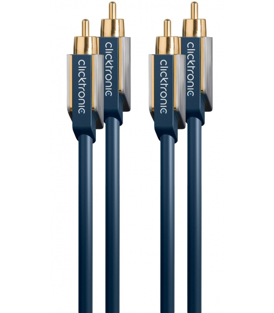 Kabel 2x RCA / 2x RCA 10m Clicktronic Advanced
