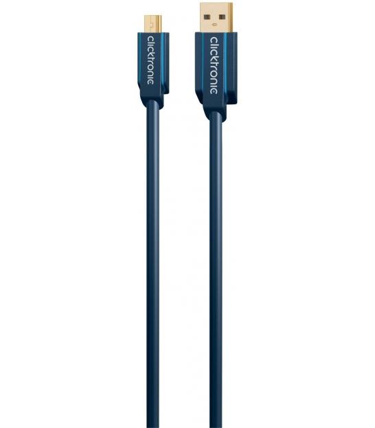Kabel USB 2.0 A / B mini 3m Clicktronic