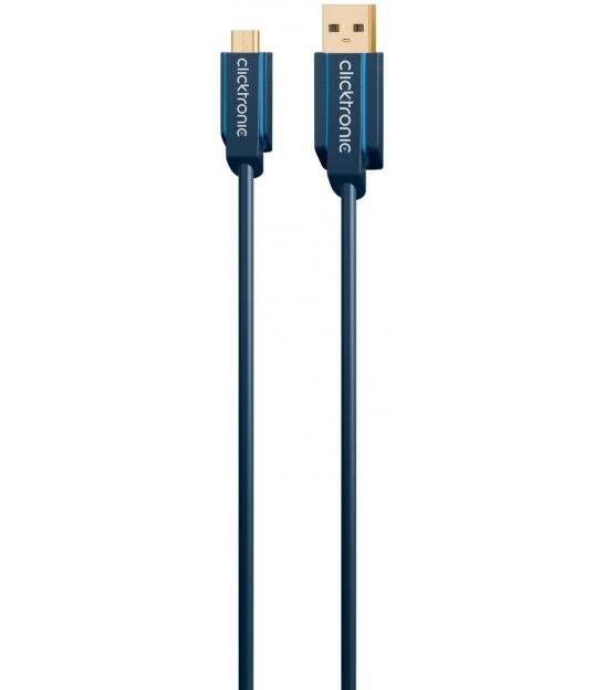 Kabel USB 2.0 A / B micro 1,8m Clicktronic