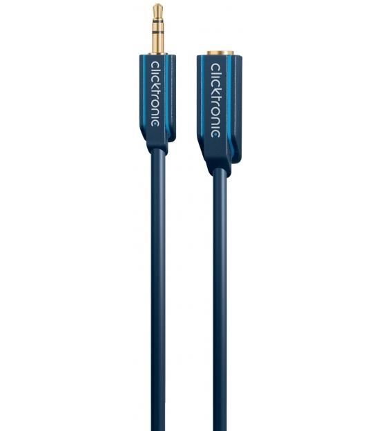 Kabel (przedłużacz) 3,5mm wtyk / 3,5mm gniazdo 5m Clicktronic