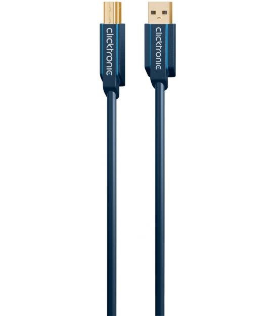 Kabel (do drukarki) USB 3.0 A / B 1,8m Clicktronic