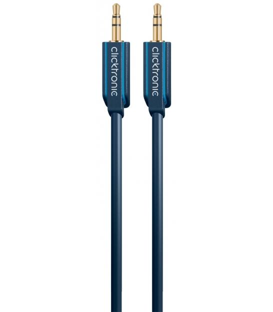 Kabel (aux) 3,5mm wtyk / 3,5mm wtyk 1m Clicktronic