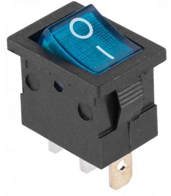 Złącze przełącznik 230V podświetlany MK1011 niebieski