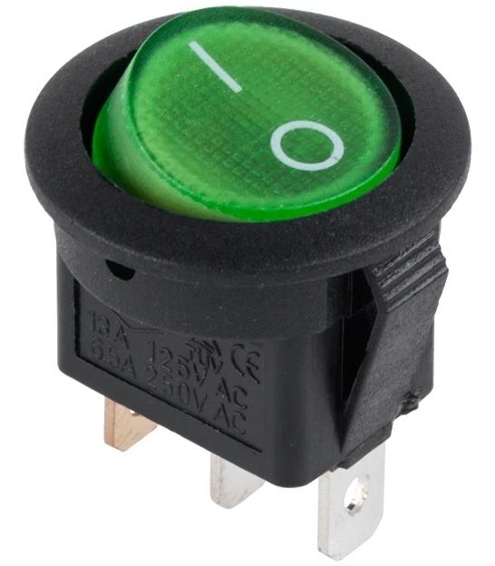 Złącze przełącznik 230V podświetlany zielony