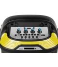 Przenośny aktywny zestaw głośnikowy Quer z funkcją MP3, Bluetooth, radio FM oraz funkcją Karaoke