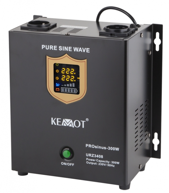 Awaryjne źródło zasilania KEMOT PROsinus-300W przetwornica z czystym przebiegiem sinusoidalnym