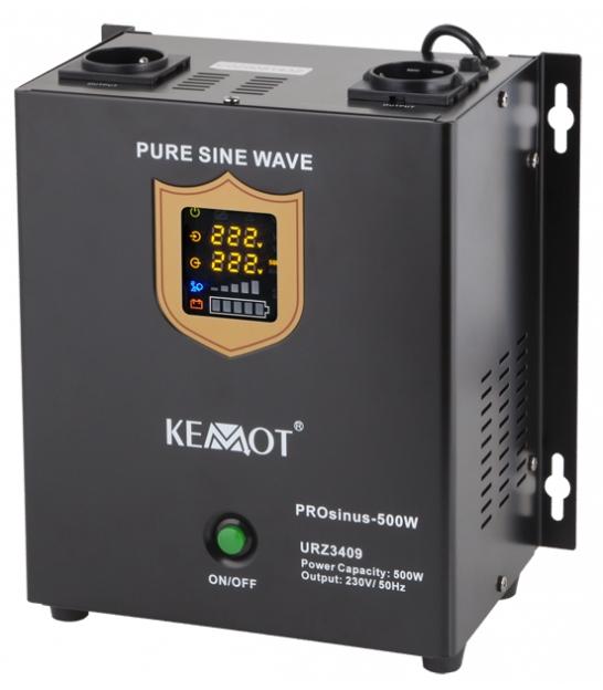 Awaryjne źródło zasilania KEMOT PROsinus-500W przetwornica z czystym przebiegiem sinusoidalnym