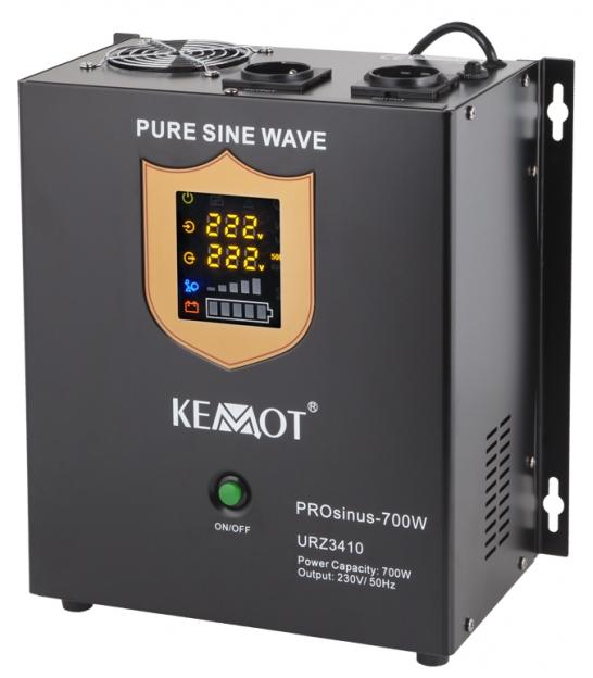 Awaryjne źródło zasilania KEMOT PROsinus-700W przetwornica z czystym przebiegiem sinusoidalnym