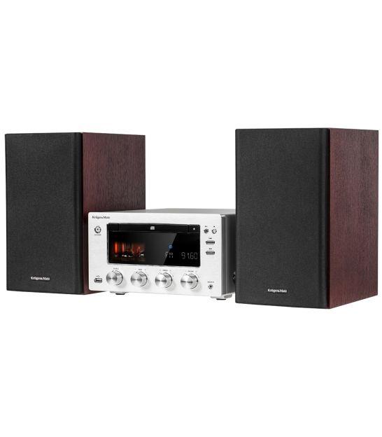 Wieża Kruger&Matz z CD, portem USB, Bluetooth, NFC , radiem cyfrowym DAB+ i FM model KM1598D