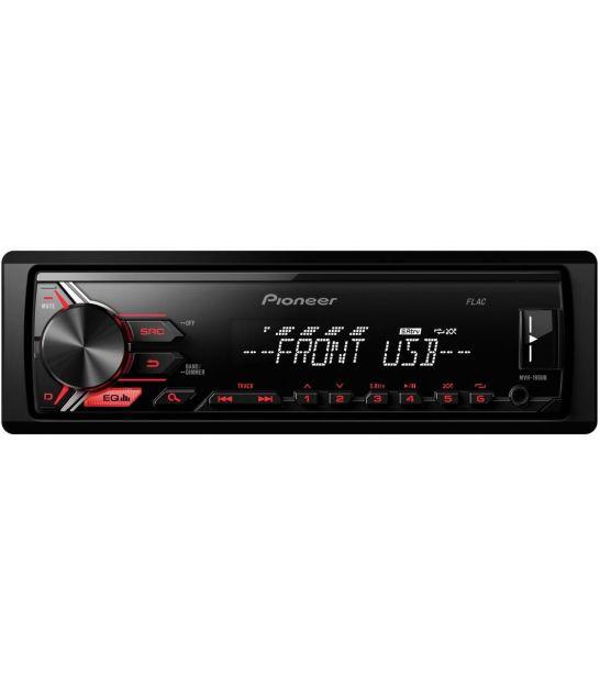 Radio samochodowe PIONEER MVH-190UB czerwne podświetlenie