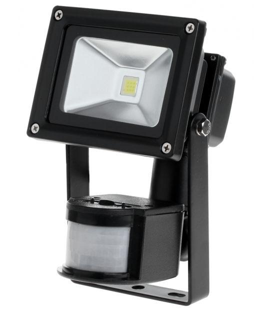 Reflektor LED 10 W z sensorem zmierzchu i ruchu 6400 K