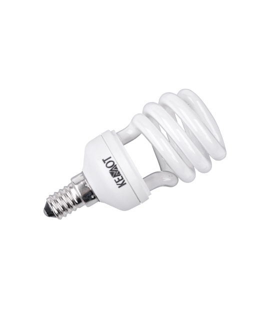 Kompaktowa lampa fluorescencyjna (Świetlówka) pół- spirala, 12W, E14, 2700K