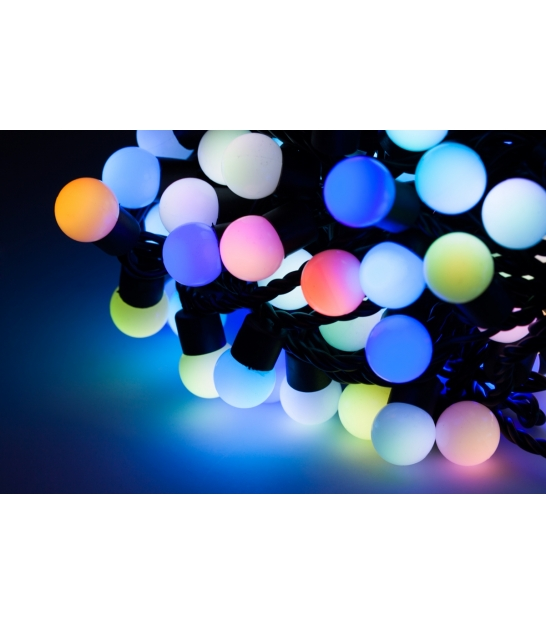 Diodowe lampki choinkowe ozdobne LED kolor RGB 20m