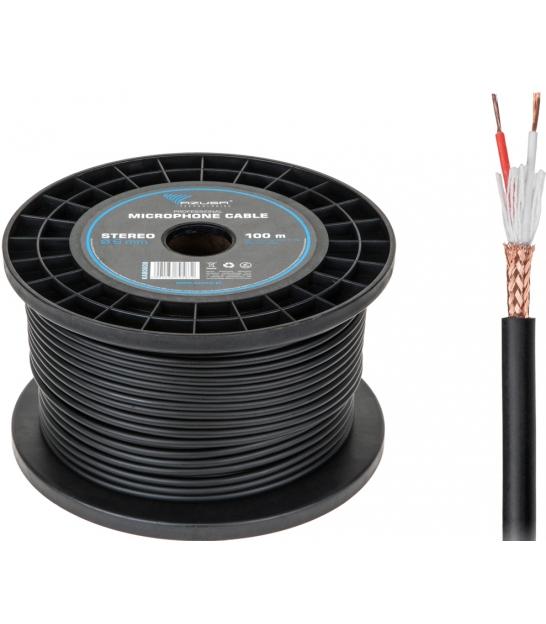 Kabel mikrofonowy AZUSA stereo 6mm profesjonalny