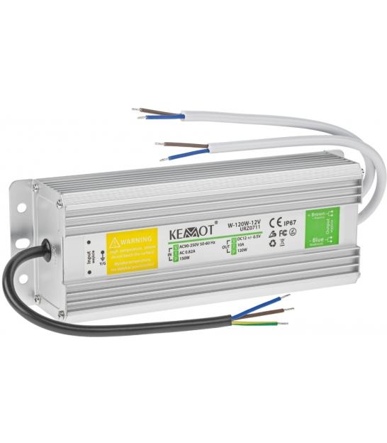 Zasilacz do sznura diodowego W-120W-12V  10A IP67