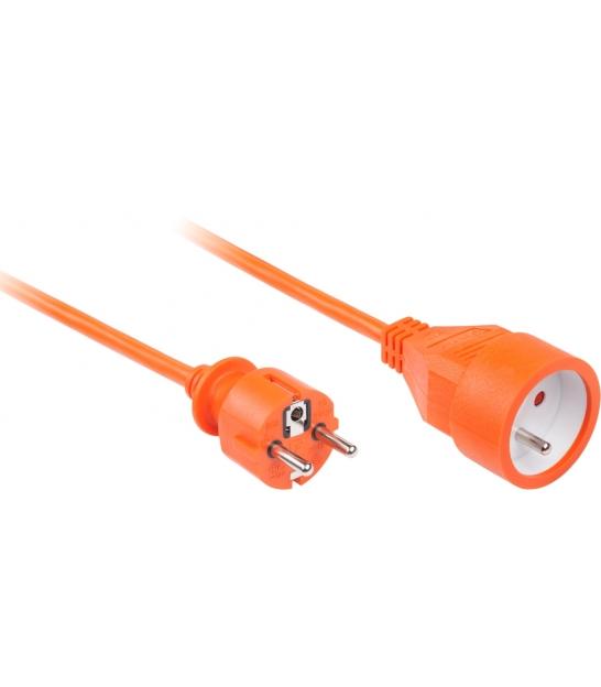 Przedłużacz pomarańczowy KEMOT 1 gniazdo, dł. 20m (3x1.5)
