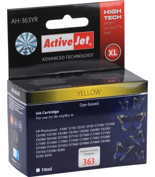 Tusz ActiveJet do HP 363 yellow