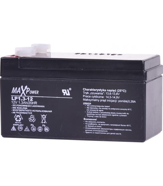 Akumulator żelowy 12V 1,3Ah MaxPower