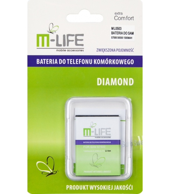 Bateria M-LIFE do Samsung Galaxy ACE Plus S7500 S6500 1500mAh