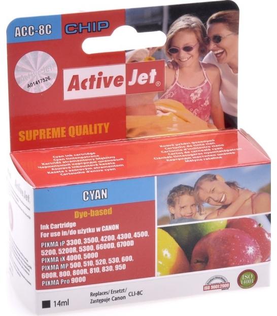 Tusz ActiveJet do Canon CLI-8 cyan