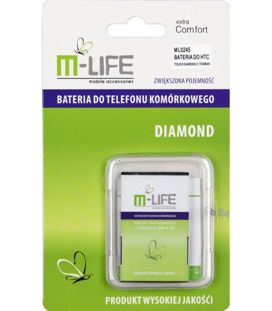 BATERIA M-LIFE DO HTC TOUCH DIAMOND 2 1700MAH