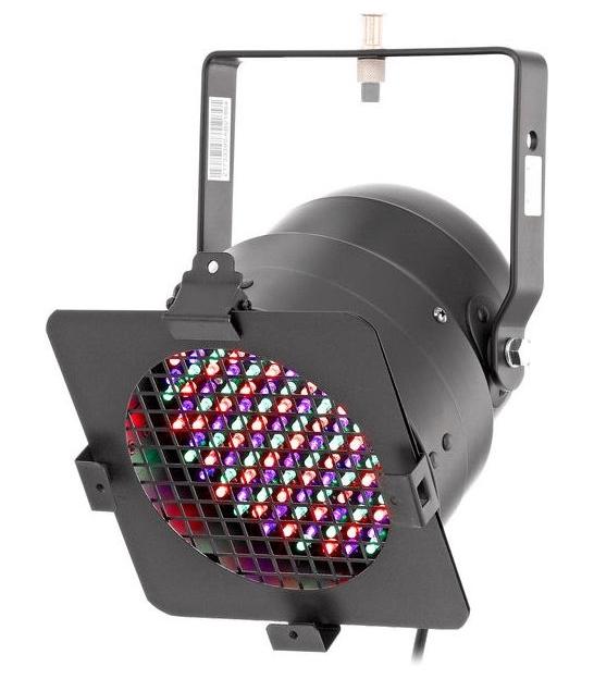 Reflektor Stairville LED PAR 56 black 151 LEDs RGB