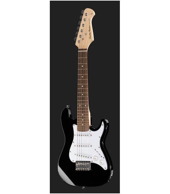 Gitara elektryczna Harley Benton ST-Shorty BK dla dzieci 1/2