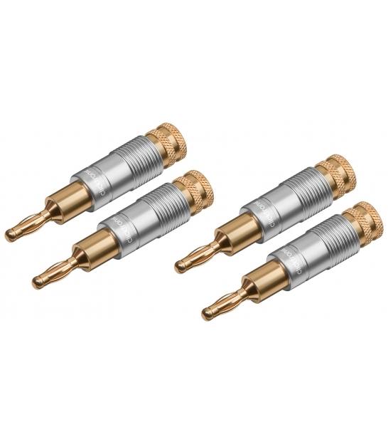 Zestaw 4 wtyków głośnikowych BANAN Clicktronic