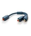 Adapter RCA wtyk / 2x RCA gniazdo 0,1m Clicktronic