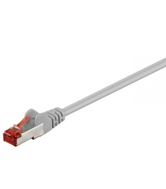 Kabel Patchcord CAT 6 S/FTP PIMF LC RJ45/RJ45 2m szary
