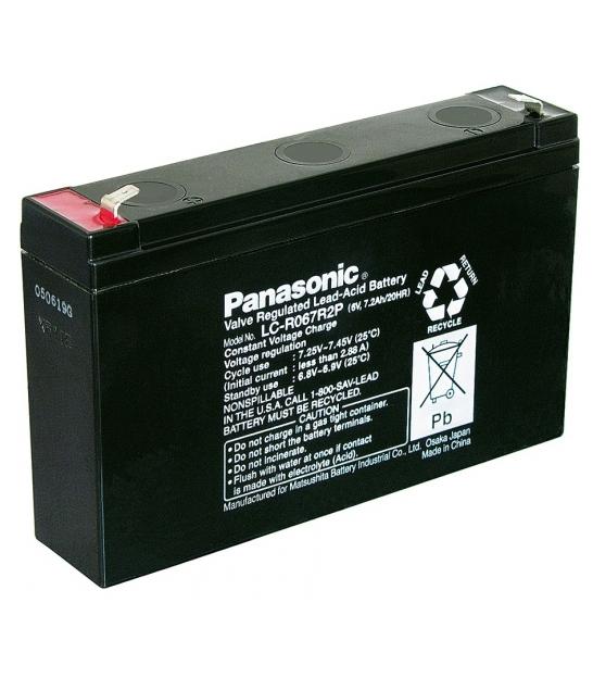 Akumulator żelowy AGM Panasonic (LC-R067R2P) 6V 7,2Ah