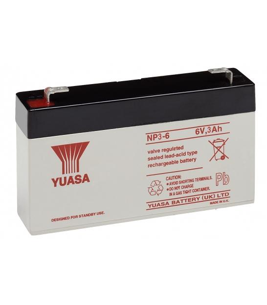 Akumulator żelowy AGM YUASA (NP3-6) 6V 3Ah