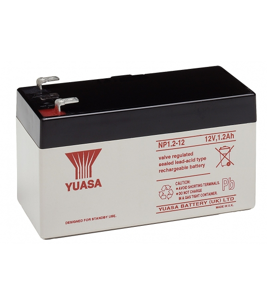 Akumulator żelowy AGM YUASA (NP1.2-12) 12V 1,2Ah