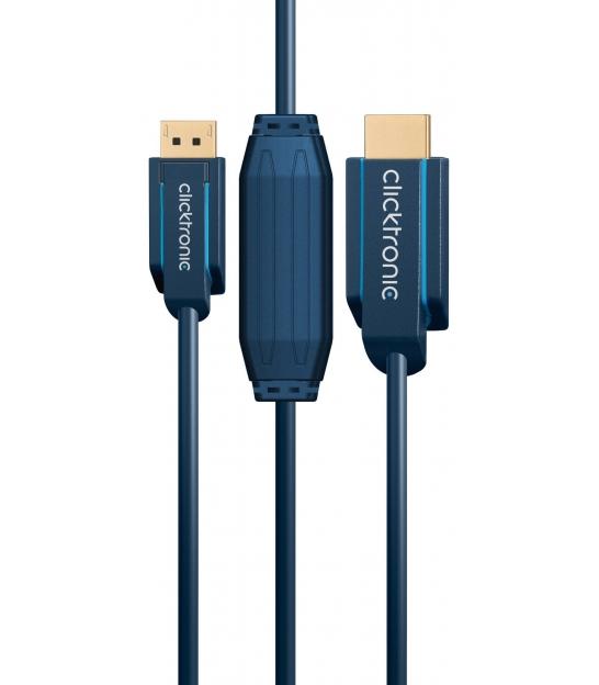 Kabel DisplayPort / HDMI 1m Clicktronic