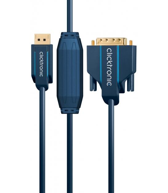 Kabel DisplayPort / DVI 2m Clicktronic