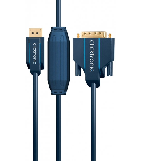 Kabel DisplayPort / DVI 10m Clicktronic