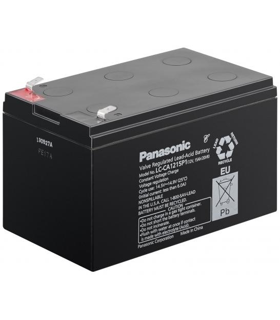 Akumulator żelowy AGM Panasonic (LC-CA1215P) 12V 15Ah