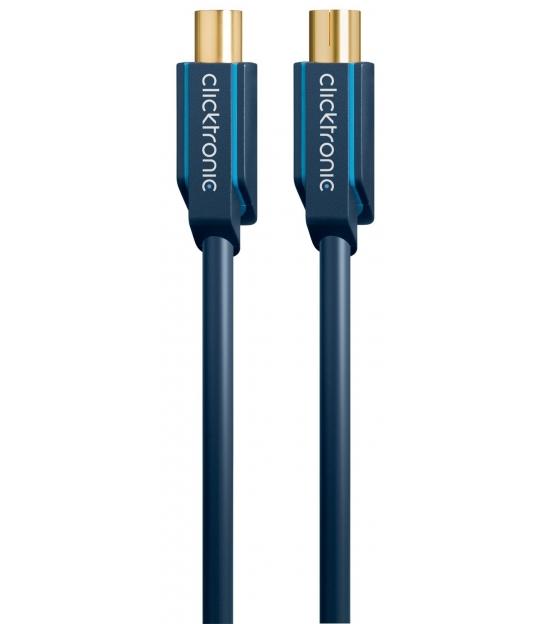 Kabel antenowy IEC wtyk / IEC gniazdo 20m Clicktronic